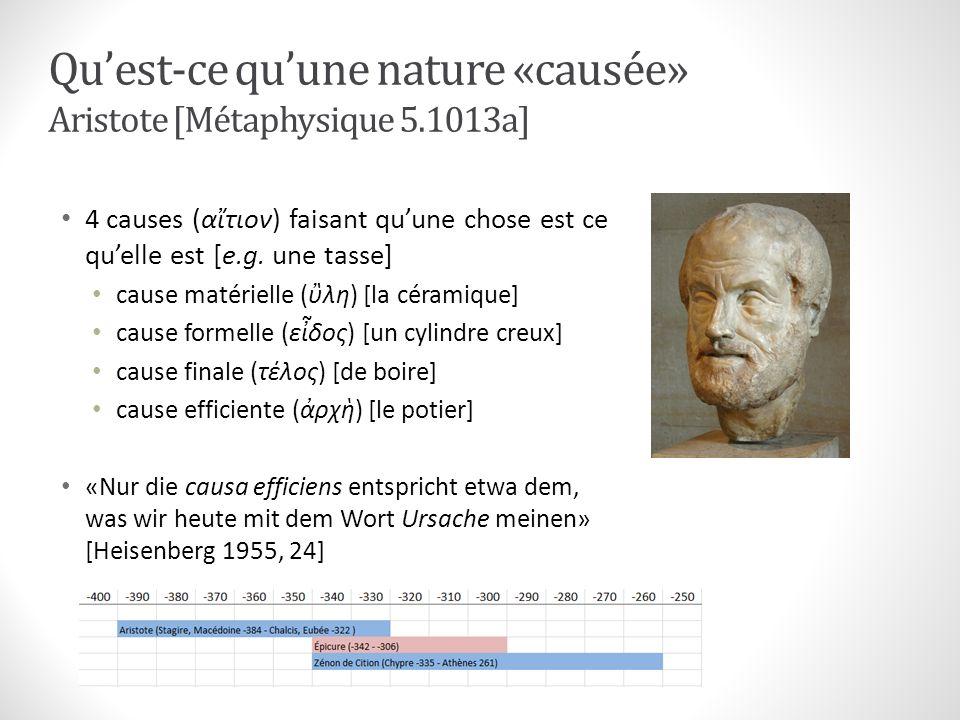 Qu'est-ce qu'une nature «causée» Aristote [Métaphysique 5.1013a]